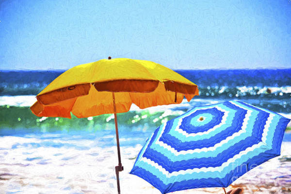 Wall Art - Photograph - Umbrellas At The Beach by Sheila Smart Fine Art Photography