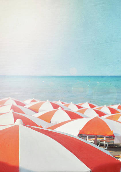 Sunshade Photograph - Umbrellas On Beach by Marta Nardini