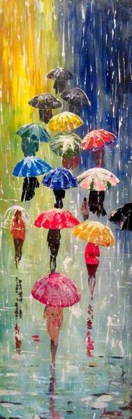Wall Art - Painting - Umbrellas by Svilen And Lisa