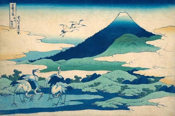 Thirty-six Views Of Mount Fuji Wall Art - Painting - Umezawa Manor In Sagami Province by Katsushika Hokusai