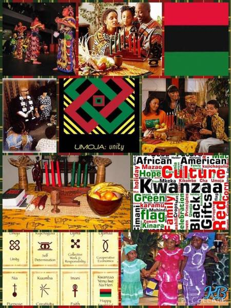 Digital Art - Umoja Celebrating Kwanza  by Karen Buford