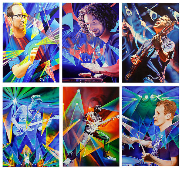 Wall Art - Painting - Umphrey's Mcgee by Joshua Morton