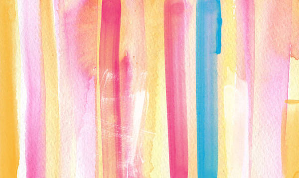 Painting - Umrbrella Stripe- Contemporary Abstract Painting by Linda Woods