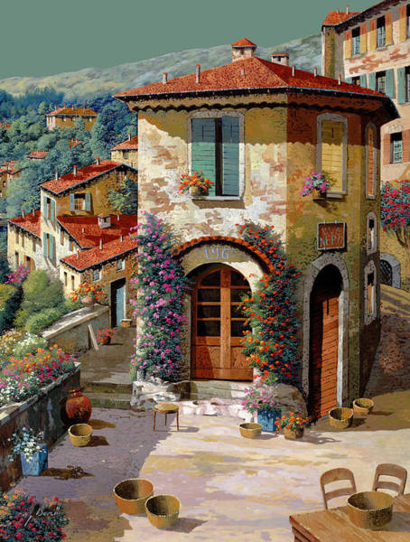 Greens Painting - Un Cielo Verdolino by Guido Borelli