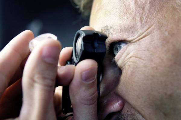 Uncut Photograph - Un-cut Diamond by Christophe Vander Eecken/reporters/science Photo Library