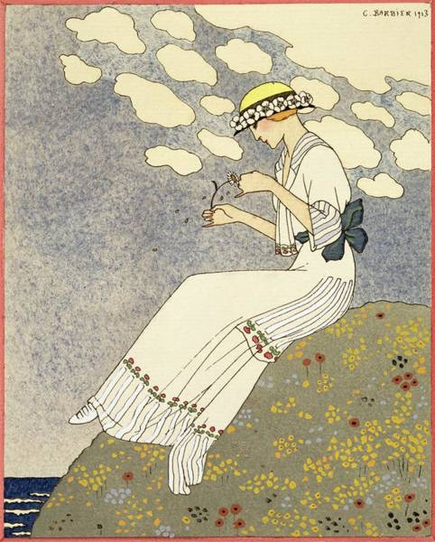Campagne Painting - Un Peu... by Georges Barbier