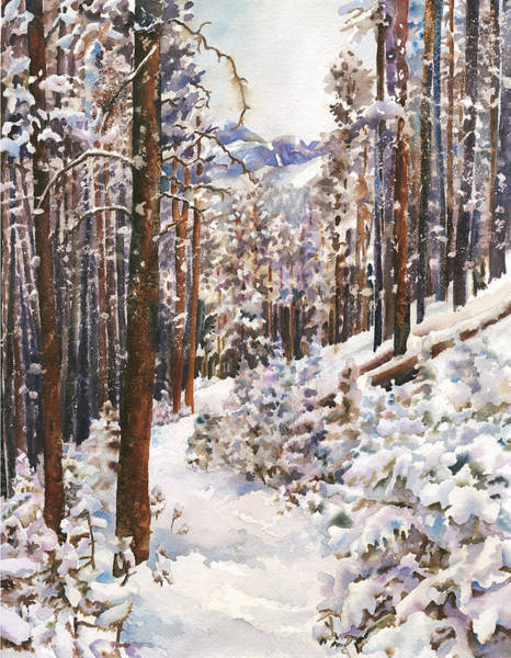 Trails Wall Art - Painting - Unbroken Snow by Anne Gifford