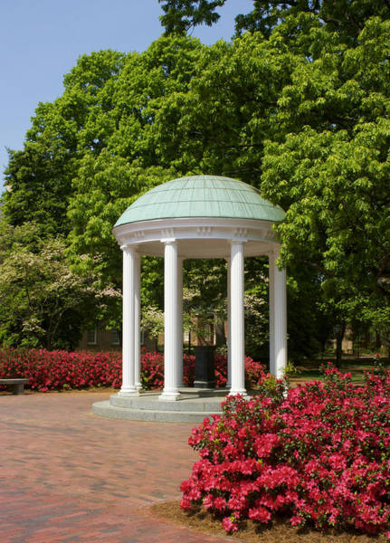 Ch Wall Art - Photograph - Unc-ch Old Well And Azaleas 01 by Orange Cat Art