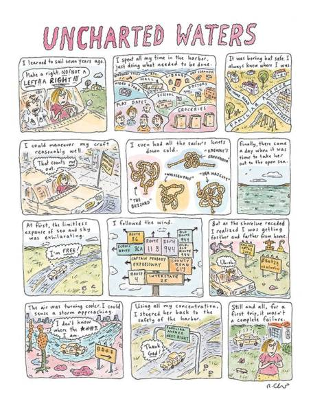 Failure Drawing - 'uncharted Waters' by Roz Chast