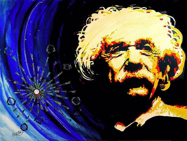 Quantum Physics Painting - Uncle Albert  by Jack Hanzer Susco