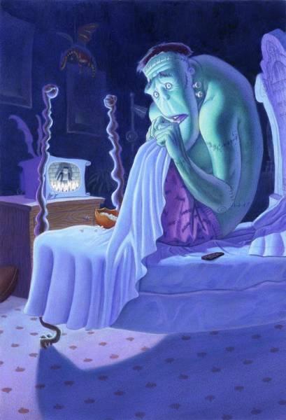 Frankenstein Painting - Uncle Frank by Richard Moore