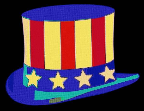 Uncle Sam Painting - Uncle Sam Hat Pop Art by Florian Rodarte