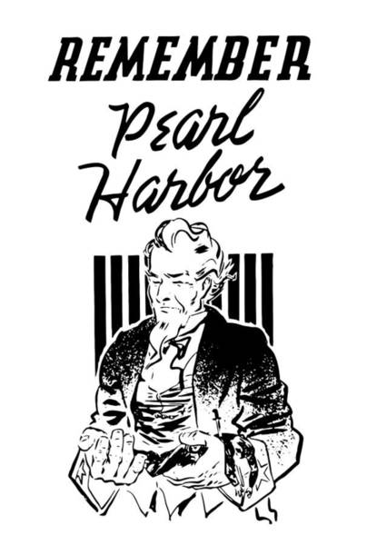Uncle Painting - Uncle Sam - Remember Pearl Harbor  by War Is Hell Store