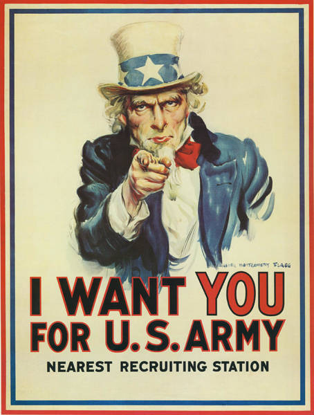 Photograph - Uncle Sam Wants You by Underwood Archives