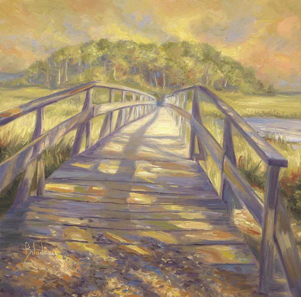 Cloud Sky Painting - Uncle Tim's Bridge by Lucie Bilodeau