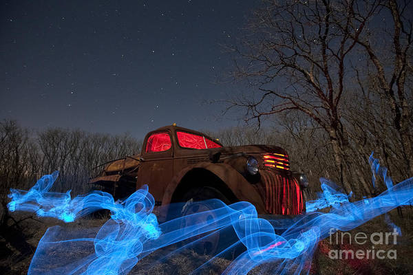 Special Effects Photograph - Uncle Tom's Water Truck by Keith Kapple