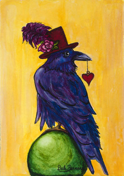 Painting - Uncommon Raven Love 1 by Dale Bernard