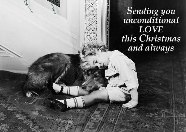 Wall Art - Photograph - Unconditional Love Christmas Greeting Card by Communique Cards