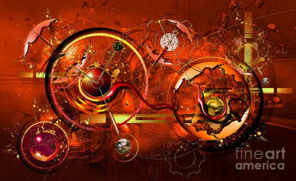 Red Planet Digital Art - Uncontrolled Reality by Franziskus Pfleghart