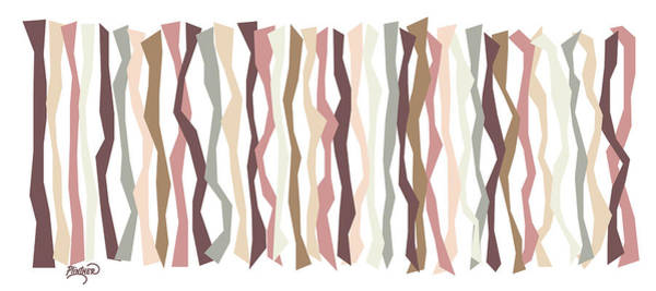 Vertical Line Digital Art - Cameo Color Sticks by Patricia Lintner
