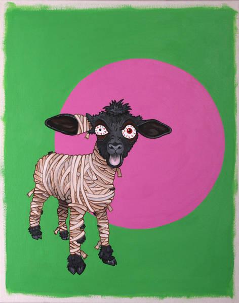 Arisen Painting - Undead Lambie by Jen Raven