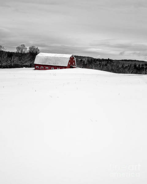 Photograph - Under A Blanket Of Snow Christmas On The Farm by Edward Fielding