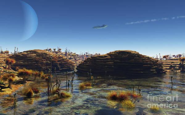 Fairy Pools Digital Art - Under Alien Skies by Fairy Fantasies