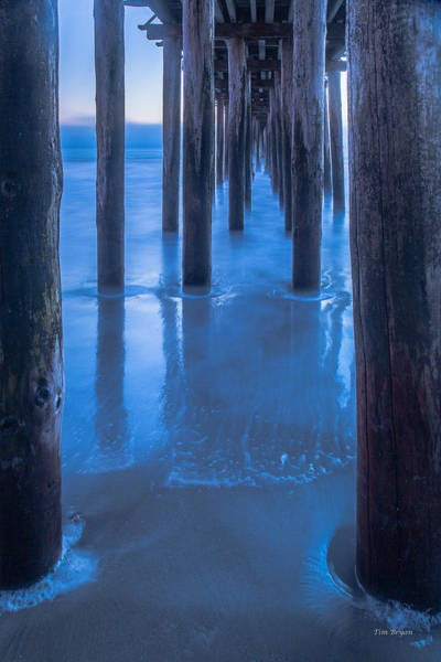 Photograph - Under Cayucos Pier by Tim Bryan