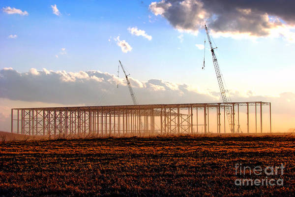 Steel Construction Wall Art - Photograph - Under Construction  by Olivier Le Queinec
