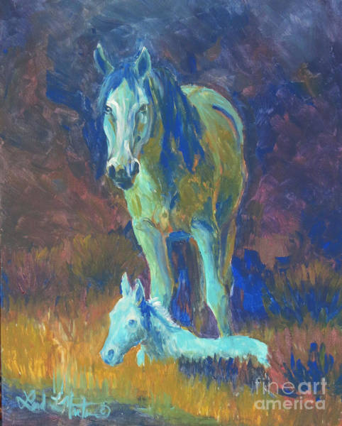 Painting - Under Cover Of Night by Linda L Martin