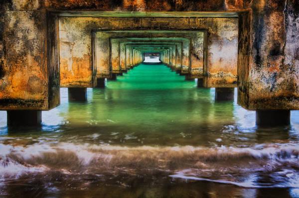 Photograph - Under Hanalei Pier by Michael Ash