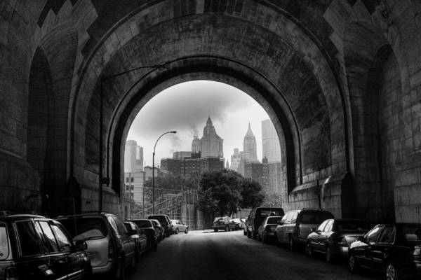 New York City - Manhattan Bridge - Under Art Print