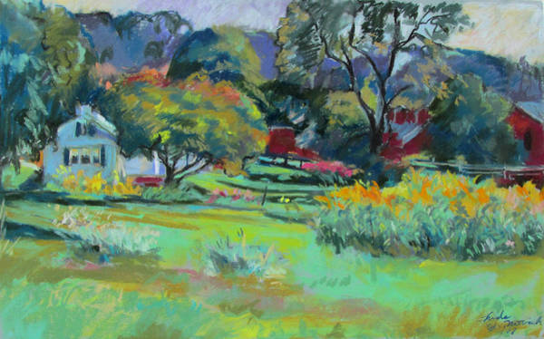 Painting - Under Mountain Farm In Summer by Linda Novick