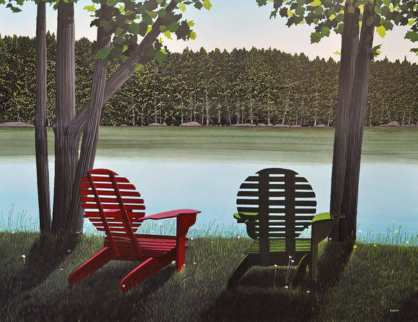 Painting - Under Muskoka Trees by Kenneth M Kirsch
