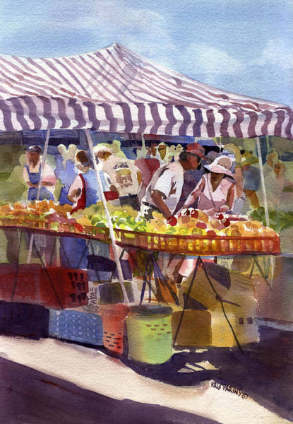 Fair Painting - Under The Awning by Kris Parins