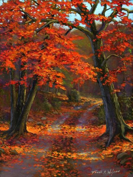 Painting - Under The Blazing Canopy by Frank Wilson
