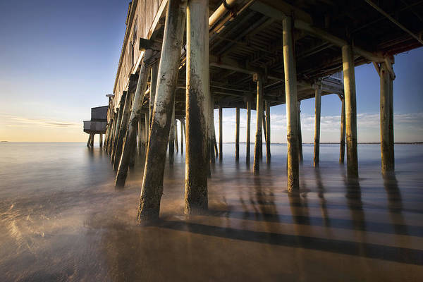 Under The Pier Photograph - Under The Boardwalk by Eric Gendron