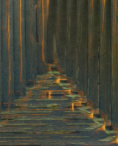 Computer Graphics Painting - Under The Boardwalk by Jack Zulli