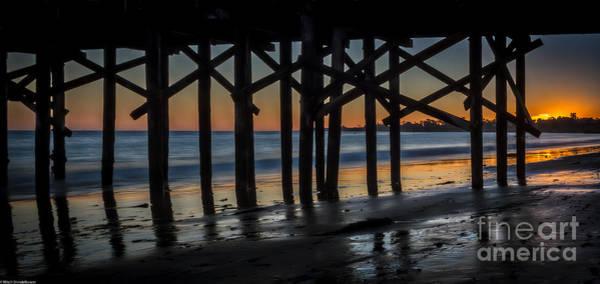 Under The Pier Photograph - Under The Boardwalk by Mitch Shindelbower