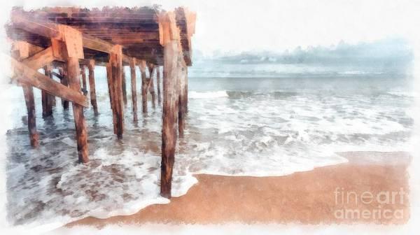 Wall Art - Photograph - Under The Boardwalk Watercolor by Edward Fielding