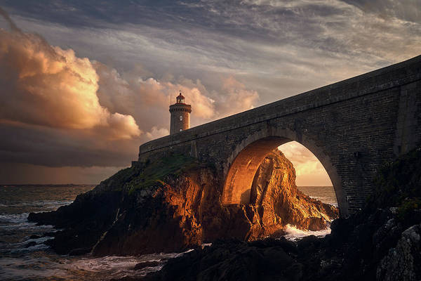 Lighthouse Photograph - Under The Bridge by