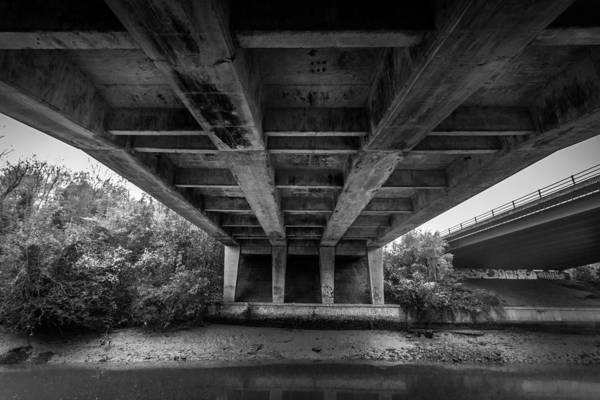 Medway Wall Art - Photograph - Under The Bridge. by Gary Gillette