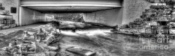 Rochester Photograph - Under The Bridge In Black And White by Twenty Two North Photography