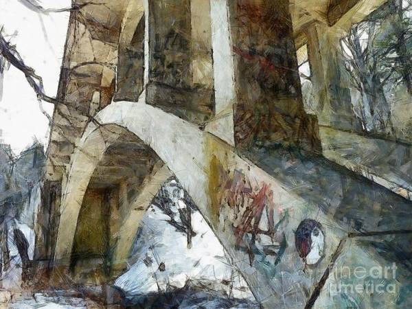 Pocono Mountains Wall Art - Photograph - Under The Bridge  by Janine Riley