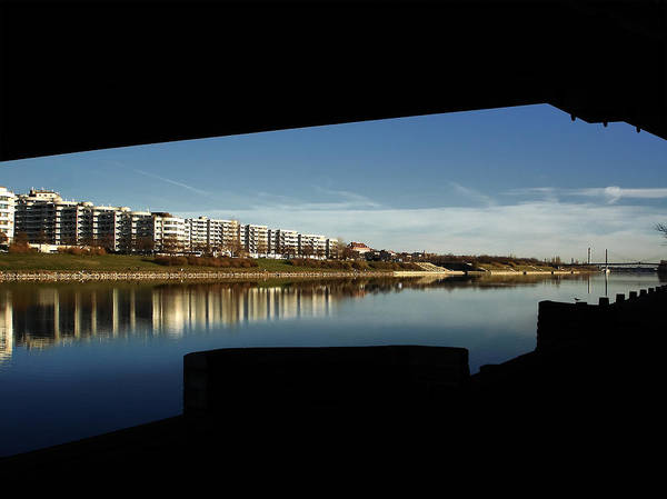 Donau Photograph - Under The Bridge by Menega Sabidussi