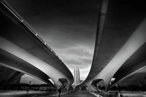 Highway Photograph - Under The Bridge by Santiago Pascual Buye