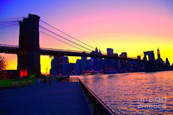 Photograph - Under The Brooklyn Bridge by Steven Spak