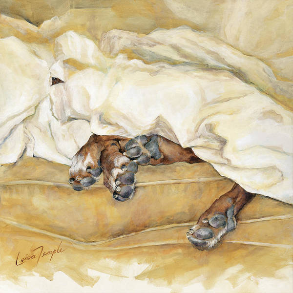 Yellow Ochre Painting - Under The Covers by Leisa Temple