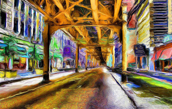 Ely Wall Art - Painting - Under The El - 20 by Ely Arsha