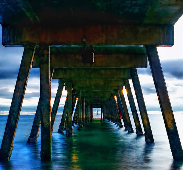 Under The Glenelg Jetty Art Print